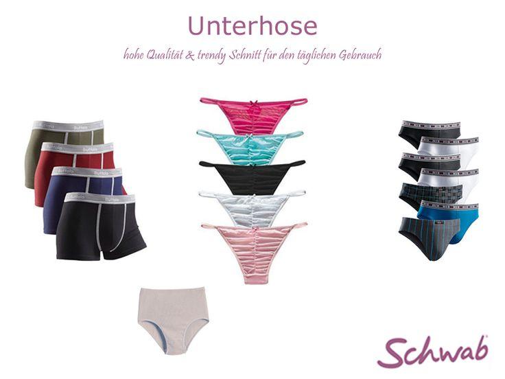 Die bequeme #Unterhose ist bei Frauen und Männern gleichermaßen unverzichtbar!
