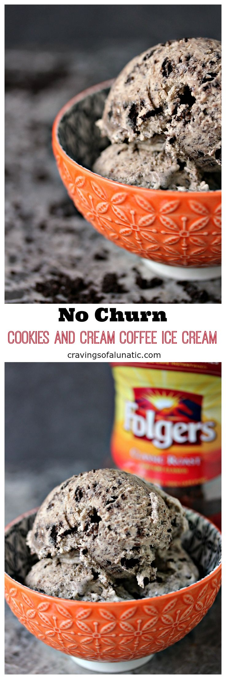 No Churn Cookies and Cream Ice Cream | Cravings of a Lunatic