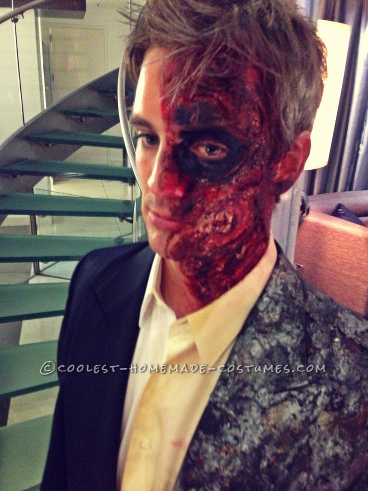 Realistic Homemade Two Face Costume… Coolest Halloween Costume Contest
