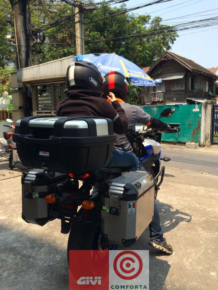ซ้อน 2 สบาย ๆ // Comfy for both rider and passenger // GIVI Only!  :: Choose GIVI for your next adventure. Check www.givithailand.com or www.asia.bike for further information ::  :: GIVI by COMFORTA ผู้นำเข้าและจัดจำหน่าย GIVI อย่างเป็นทางการในประเทศไทย, ลาว และเมียนมาร์ ::  #GIVI #GIVITHAILAND #COMFORTA #MOTORCYCLE #BIGBIKE #MOTORCYCLEBOX #TOURINGBIKE #