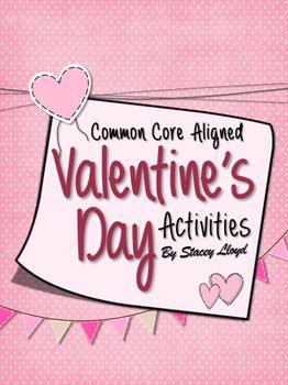 7 fun middle school Valentine's Day Activities, with instructions (CCSSs), worksheets and answer keys!