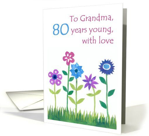 80th Birthday Card For A Grandma