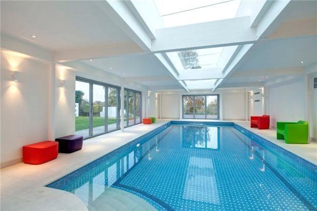 glass roof indoor pool