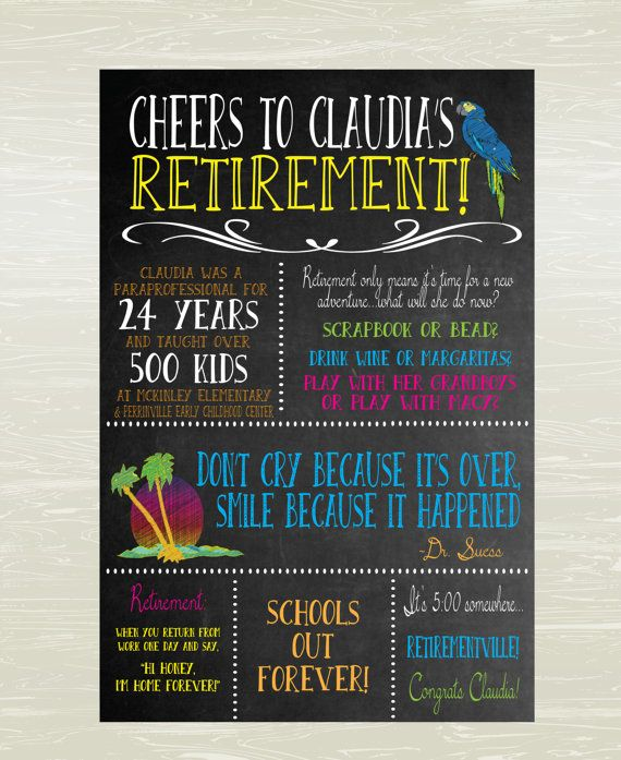 retirement poster  margaritaville theme  digital or