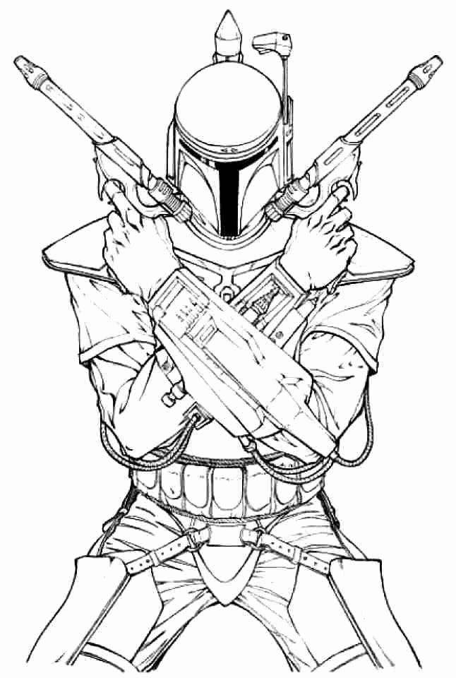 Boba Fett Coloring Page New Boba Fett Coloring Pages In 2020 Star Wars Coloring Book Star Wars Jango Fett Star Wars Drawings