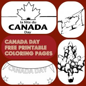 4 Canada Day free printable coloring pages for kids #coloringpages