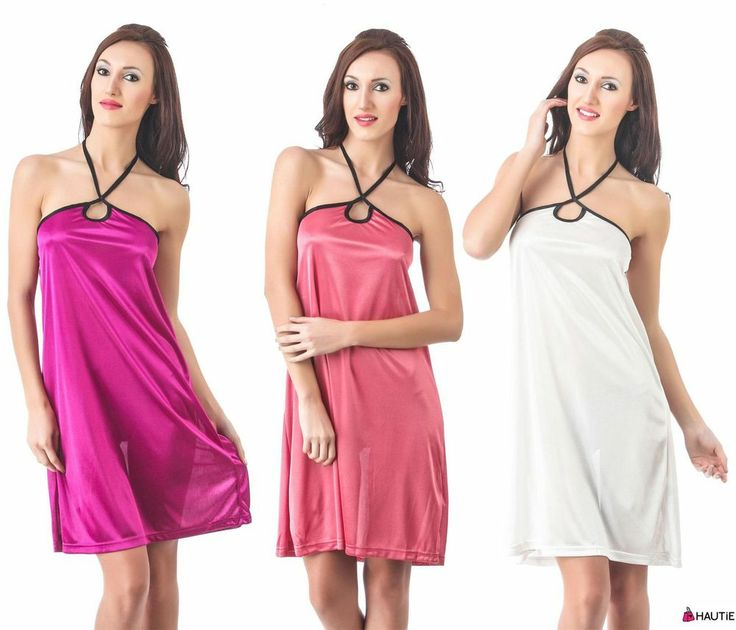LADIES SEXY LINGERIE SILK SATIN BABYDOLL CHEMISE MINI DRESS WOMENS NIGHTIE in Clothes, Shoes & Accessories, Women's Clothing, Lingerie & Nightwear | eBay