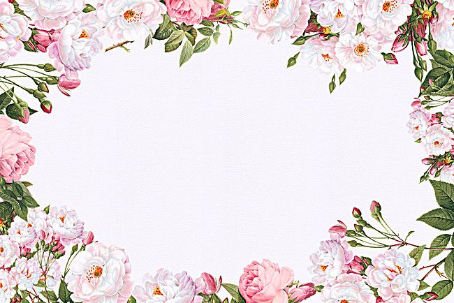 Romantic Flowers Border Background In 2020 Flower Border Png