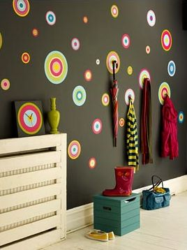 Love the bright and colorful walls! #littlenest #pinparty