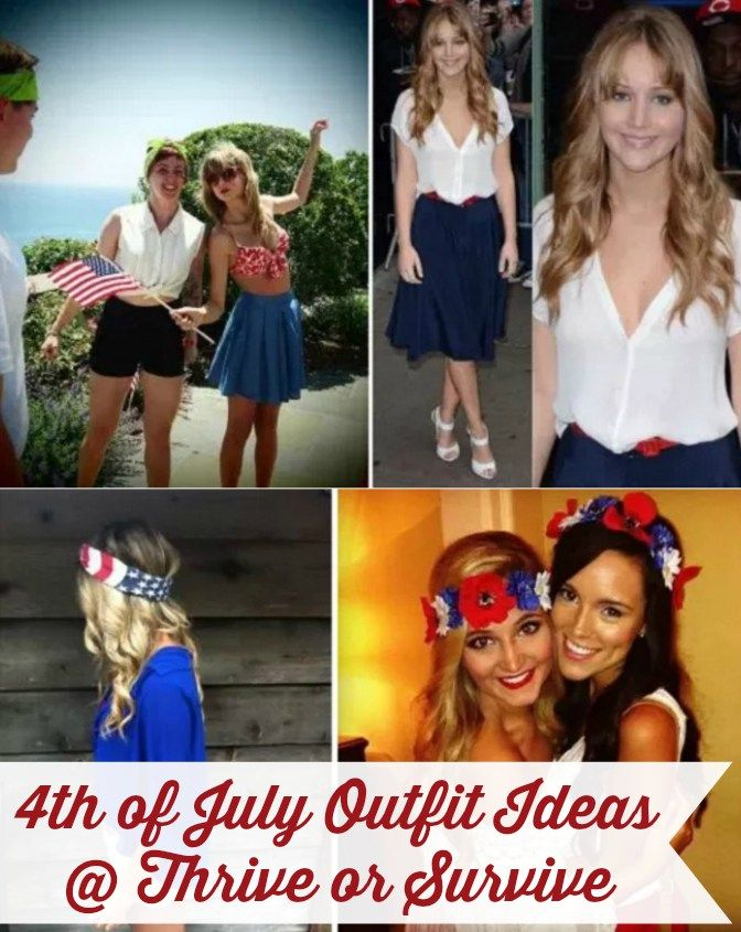 Fourth of July Food, Drink, Decoration & Outfit Ideas @ www.thriveorsurvive.us