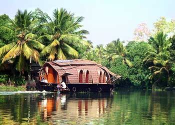 My dream vacation would include a couple nights on one of these on the backwaters of Kerala, India.