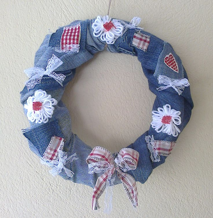 Blue jean, spring wreath