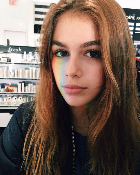 """[ fc kaia gerber and kristen hancher. ] """"Hey, I'm Kendall. I'm 18. I like to read, sleep, and paint. Come say hi!"""""""