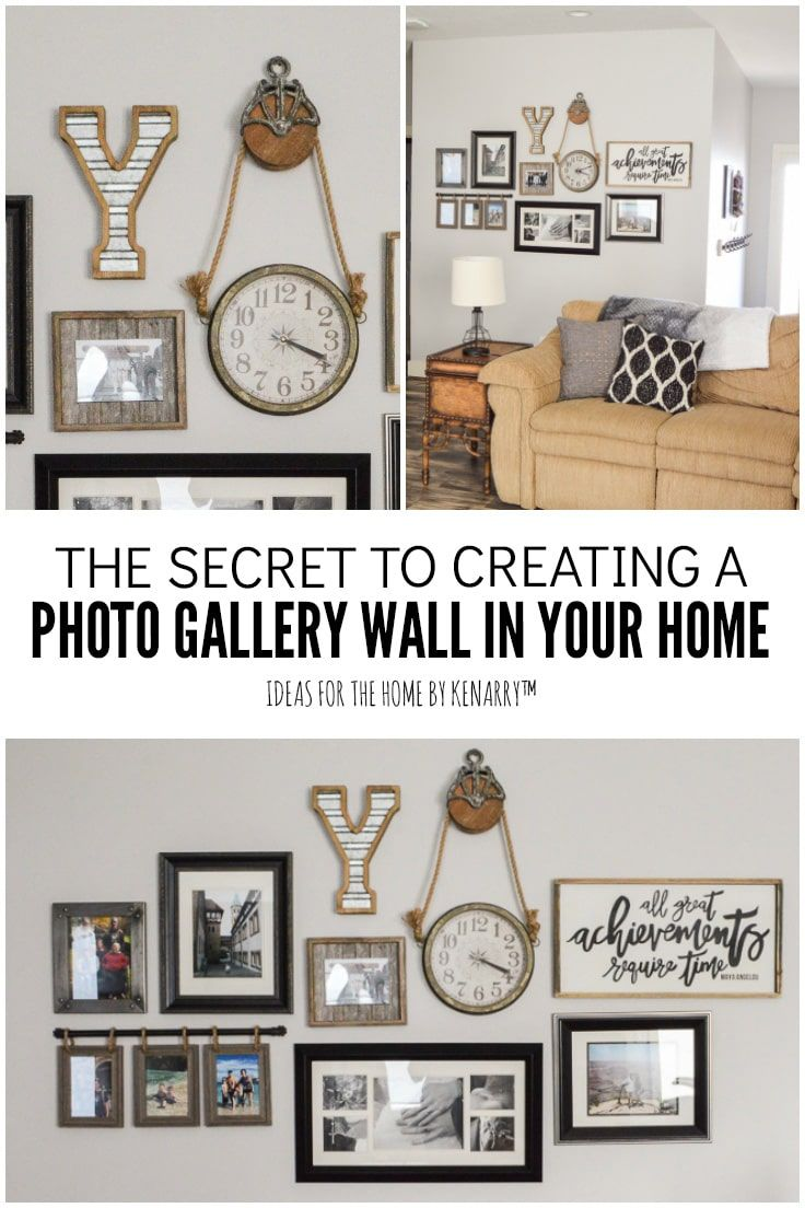 Easy Idea To Make A Family Photo Gallery Wall Ideas For The Home
