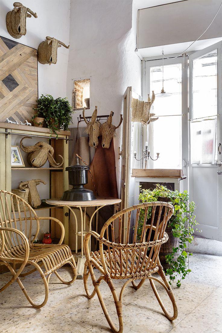 HOME & GARDEN: Un garage transformé en atelier à Madrid