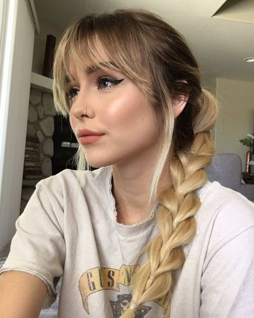 Cute Fishtail Braided Hairstyles With Fringes Dinga Poonga Hair Styles Hair Inspiration Long Hair Styles