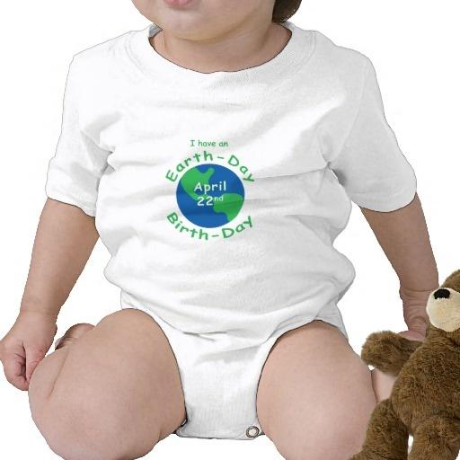 Earth Day Birthday Tshirt