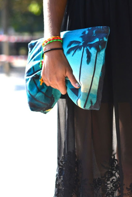 Tropical clutch!  Samudra Mokulua Pouch  - or-  Zezso Maldives Aqua Palm Pouch http://shop.dezsosara.com/product/maldives-aqua-palm-pouch-2013