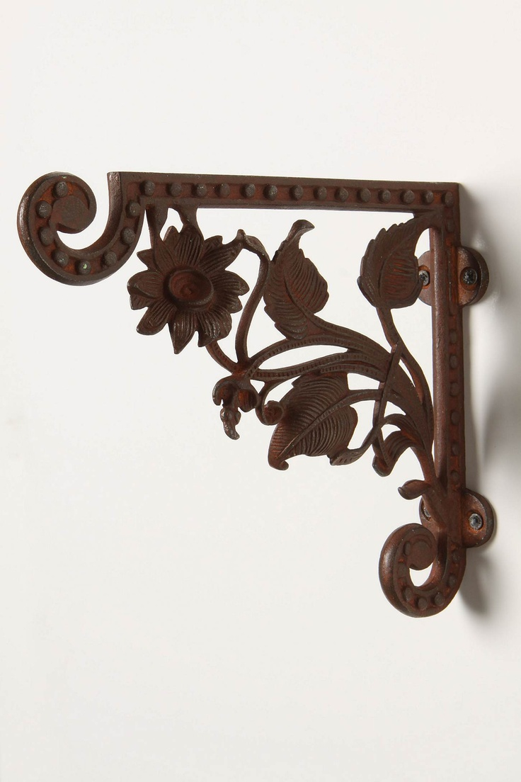 I want to replace my wooden brackets with these beauties to hold up my bartop counter. Simply gorgeous! $22 Anthro