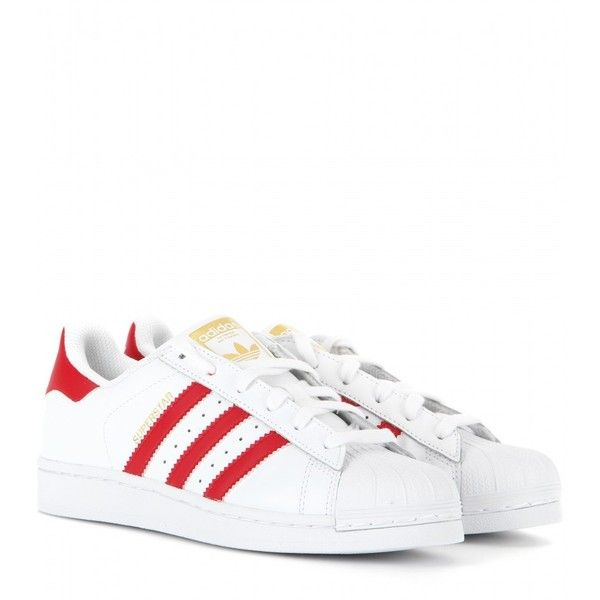 Adidas Superstar Foundation Leather Sneakers ($99) ? liked on Polyvore  featuring shoes, sneakers