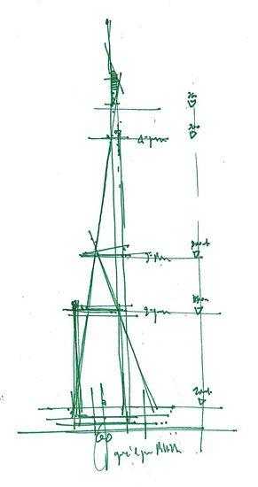 Architectural Drawings Of Bridges drawings - the shard - london bridge tower - renzo piano | sketch