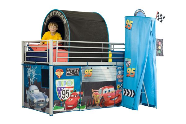 Children's Bedworld Cars Mid Sleeper Tent Pack
