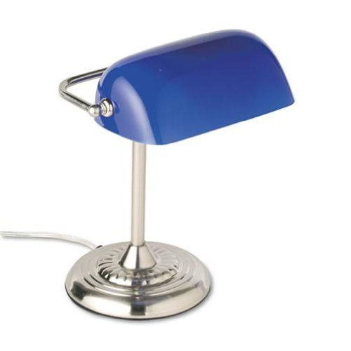 """Bankers Lamp, 14""""H, Uses 60W Inct. Bulb, 14""""H,Blue Shade, Sold as 1 Each Advantus Corp. http://www.amazon.co.uk/dp/B0013MT63G/ref=cm_sw_r_pi_dp_MUX3wb1CA3X8E"""
