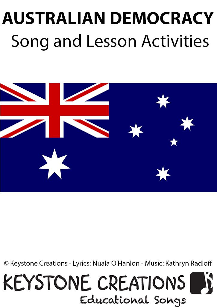 'AUSTRALIAN DEMOCRACY'  (Upper Primary) is a curriculum-based song that helps students to understand the meaning of democracy and to develop an appreciation for those who fought for rights and freedoms we enjoy today. *DETAILS & DOWNLOADABLE SONG and Lesson Materials: http://www.teachinabox.com.au/iteminfo.aspx?itemid=588#productInfo