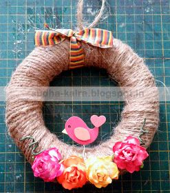 How to make homemade wreath...Kids summer activities..Day-9 with my little daughter...  For more details,check here- http://sudha-kalra.blogspot.in/2017/06/how-to-make-homemade-wreathssummer.html