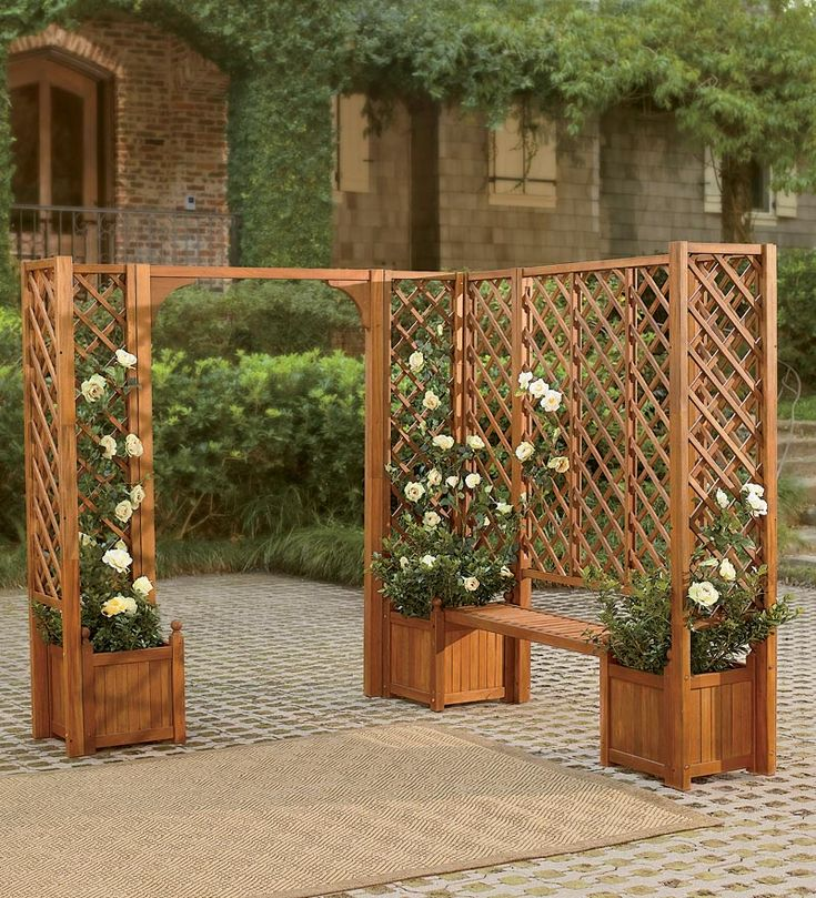 Best 25 patio trellis ideas on pinterest diy arbour for Privacy planters for decks