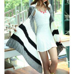Wholesale Geometric Print Long Sleeve Collarless Cardigan For Women (AS THE PICTURE,ONE SIZE), Sweater & Cardigan - Rosewholesale.com