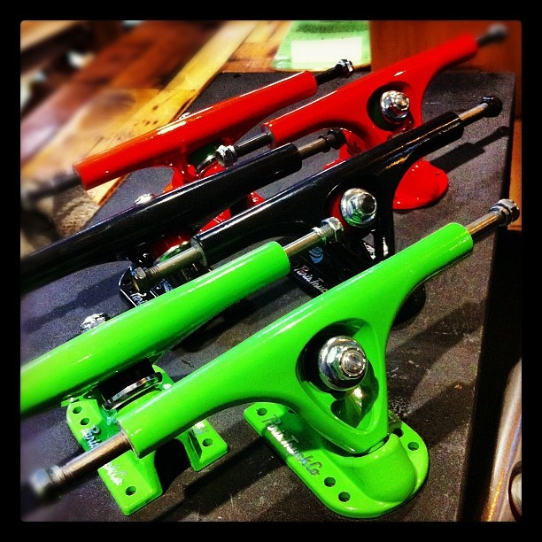 New and improved V2 trucks from Paris Truck Co.! www.motionboardshop.com