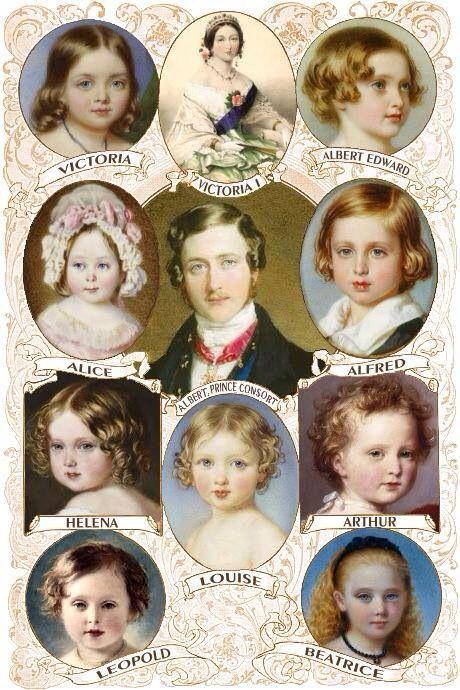 Queen Victoria, Prince Albert, and their children.