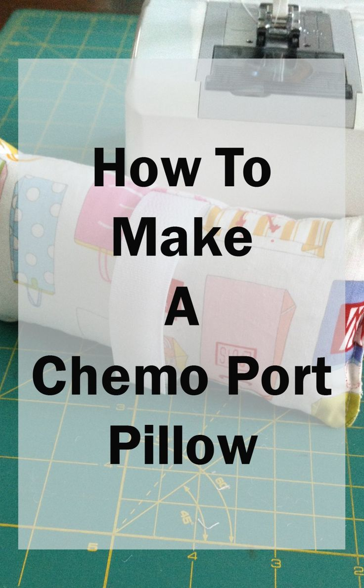 Make a chemo port pillow from fabric scraps! They are not only a nice gift for people going through chemo, but also something to donate to a local hospital.