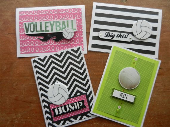 volleyball note cards handmade greeting card with