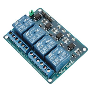 4 Channel Relay Module with Optocoupler 5V for PIC AVR DSP ARM for Arduino - USD $ 4.79
