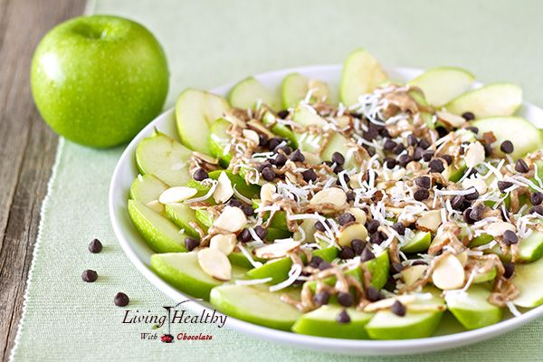 Paleo Apple 'Nachos' | Living Healthy With Chocolate