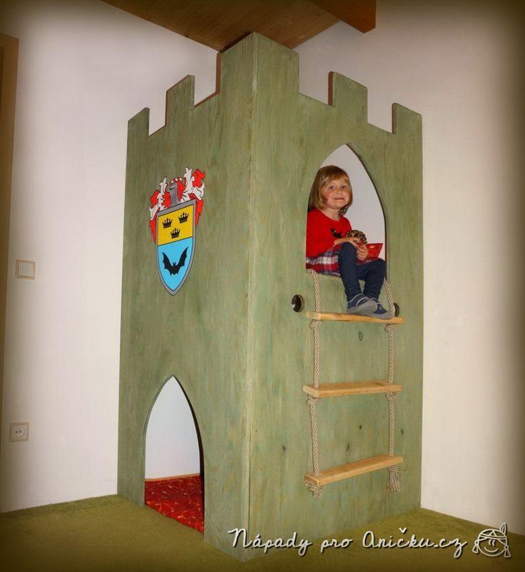 Hrad z překližky do dětského pokoje - Plywood castle tower DIY