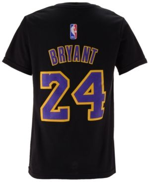 adidas Kids' Kobe Bryant Los Angeles Lakers Name And Number T-Shirt - Black M