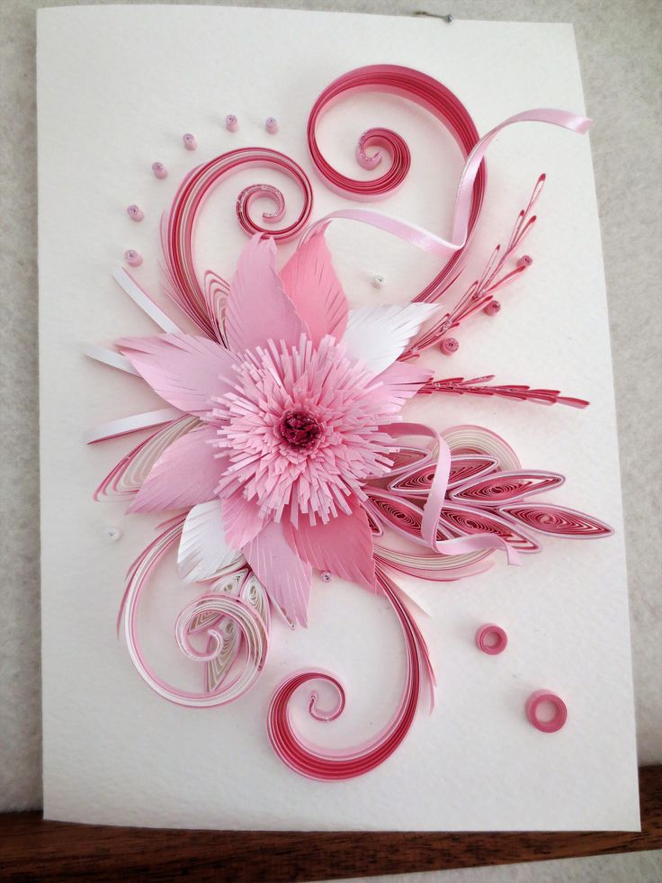 QUILLING PINK CARD