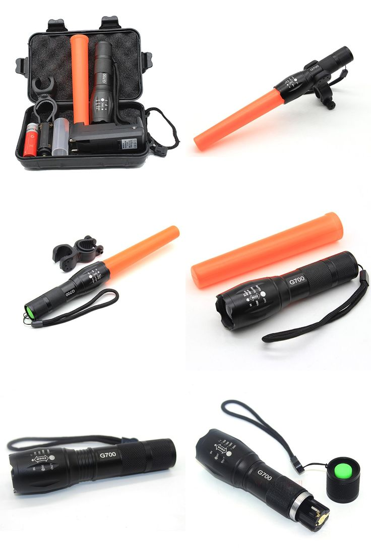 [Visit to Buy] Police Linternas Cree XML T6 3800LM Tactical Military Flashlight Led + Gift Box + Charger + Red Baton + 18650 Battery Bike Light #Advertisement