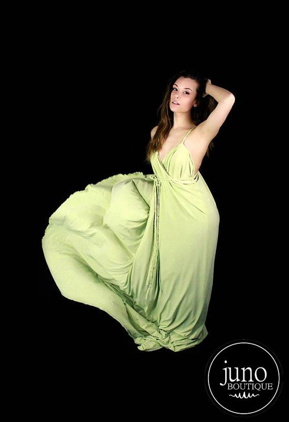 The Venus Gown  Gorgeous Lime Jersey Knit Wrap by JunoBoutique, $60.00