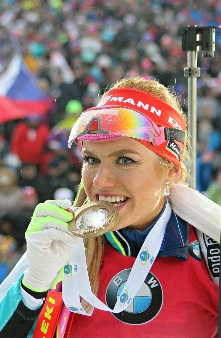 Gabriela Koukalová s medailí za vítězství v Novém Městě | na serveru Lidovky.cz | aktuální zprávy