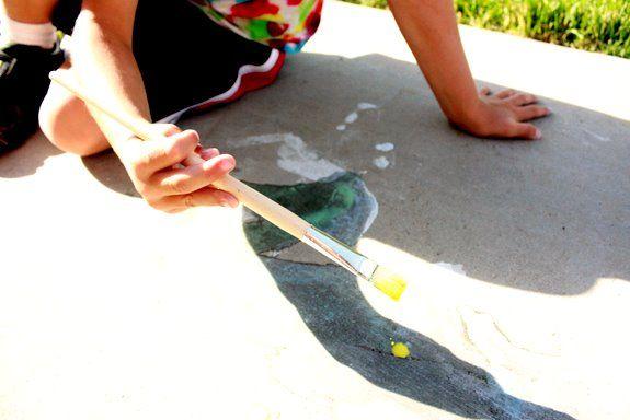 Homemade sidewalk paint!