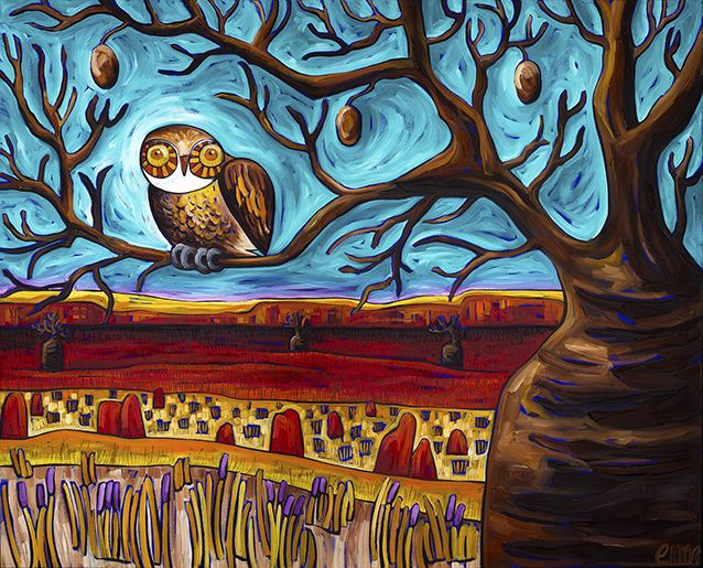 'Whos' boab tree' original oil on canvas 150 x 120cm