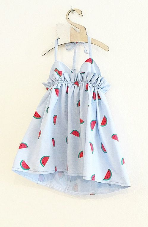 Handmade Watermelon Dress | MissLylaBoutique on Etsy