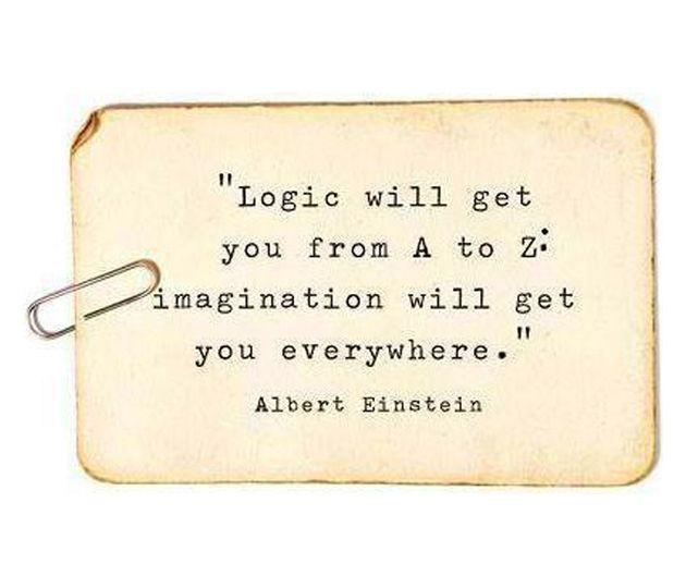 Logic vs. imagination #quote