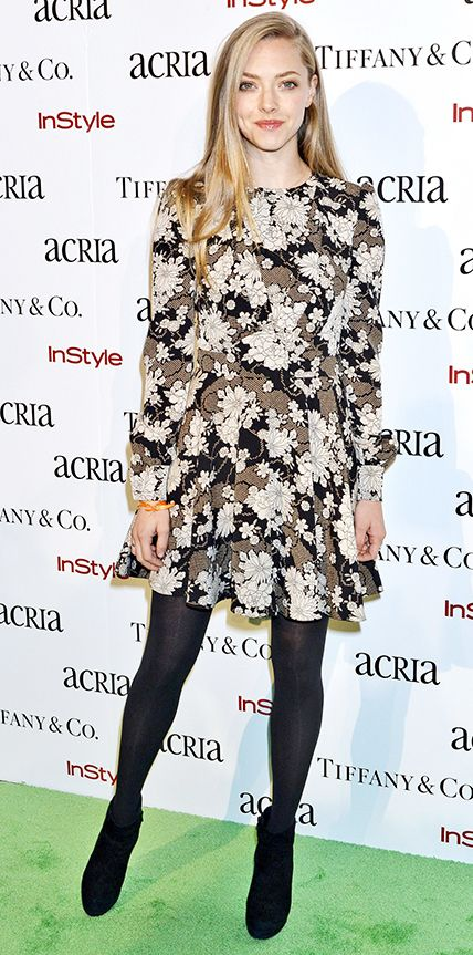 21 Chic Celebrity Looks That Have Us Saying Yes to Tights - Amanda Seyfried from #InStyle