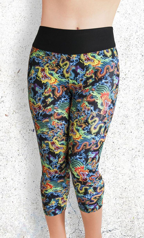 Capri Leggings - Dragon Storm - Funtastic Activewear