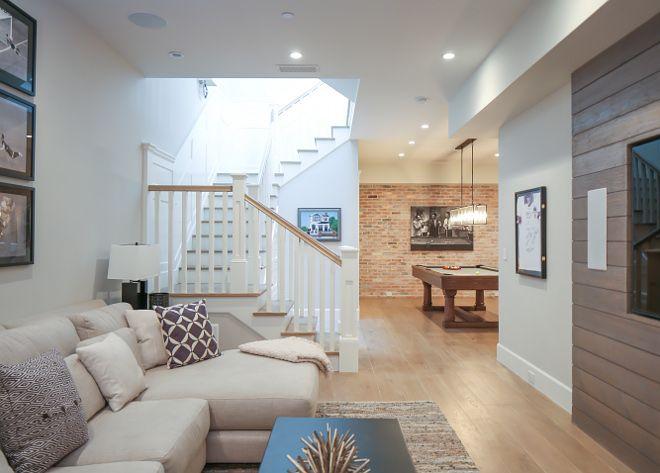 captivating contemporary coastal interior design | Basement ideas. The games room open to a Tv area. # ...